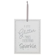 Diamante Decorative Plaque - Glitter Makes Everything Sparkle