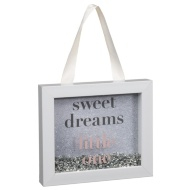 Baby Sequin Box Plaque - Sweet Dreams