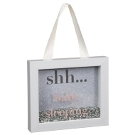 Baby Sequin Box Plaque - Shh... Baby Sleeping