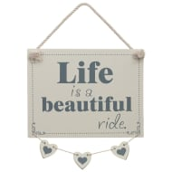 Hanging Hearts Plaque - Beautiful Ride