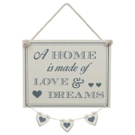 Hanging Hearts Plaque - Love & Dreams