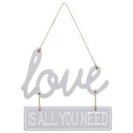Love is All You Need Plaque - Grey
