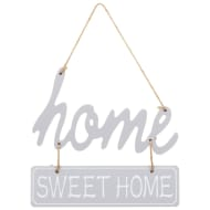 Home Sweet Home Plaque - Grey