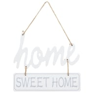 Home Sweet Home Plaque - White