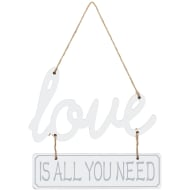 Love is All You Need Plaque - White