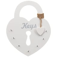 Heart Key Holder - White