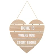 Wooden Slat Heart - Where Our Story Begins