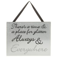 Sparkle Mirror Plaque - Always & Everywhere