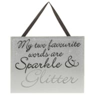 Sparkle Mirror Plaque - Sparkle & Glitter