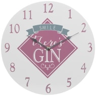 Gin & Tonic Clock - Smile There's Gin