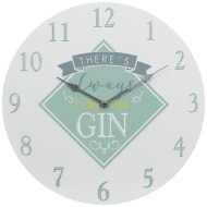 Gin & Tonic Clock - Always Time for Gin
