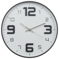 Embossed Clock - Grey