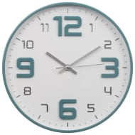 Embossed Clock - Teal