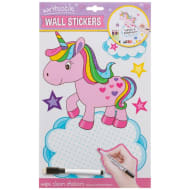 Writeable & Wipe Clean Wall Stickers - Unicorn