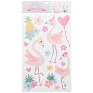 Pastel Wall Stickers - Flamingos