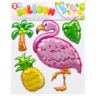 3D Balloon Wall Stickers - Flamingo