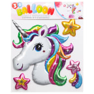 3D Balloon Wall Stickers - Unicorn