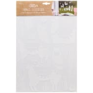 White Glitter Wall Sticker - Llamas