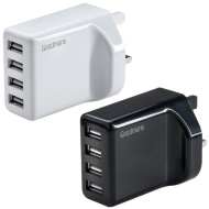 Goodmans 4 Port USB Fast Charger - Black