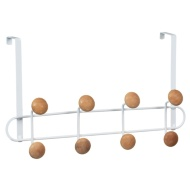 Wooden Ball Overdoor Hooks - White