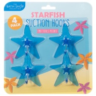 Bathroom Suction Hooks 4pk - Starfish