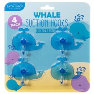 Bathroom Suction Hooks 4pk - Whale