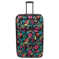 Tropical Floral Suitcase 80cm