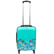 Bevelled Cabin Suitcase 55cm - Flamingo