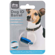 Dog ID Collar Barrel - Blue
