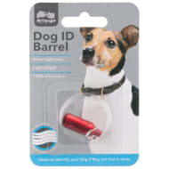 Dog ID Collar Barrel - Red