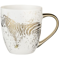 Gold Animal Mug - Zebra