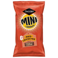 Jacob's Mini Cheddars Red Leicester 6pk