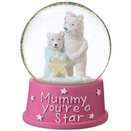 Snow Globe Water Ball 10cm - Mummy You're a Star
