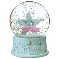Snow Globe Water Ball 10cm - To the Moon & Back
