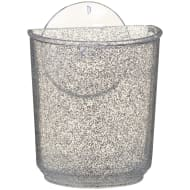 Glitter Bathroom Suction Tumbler - Silver