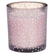 Silver Dot Candle Jar - Purple