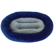 Oval Snuggle Pet Bed - Navy