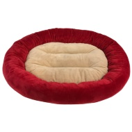 Oval Snuggle Pet Bed - Red