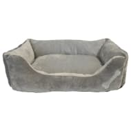 Square Bone Pet Bed - Grey