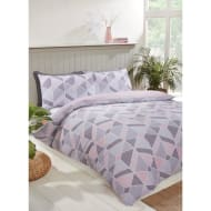 Geo King Duvet Twin Pack - Blush