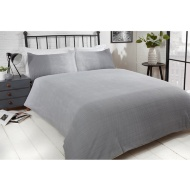 Silentnight Ombre Seersucker Double Duvet Set