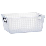Storage Basket with Colour Handle - Black