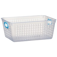 Storage Basket with Colour Handle - Blue