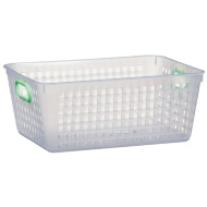 Storage Basket with Colour Handle - Green