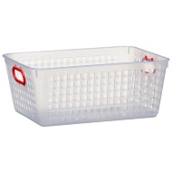 Storage Basket with Colour Handle - Red