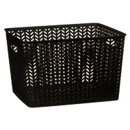 Large Chevron Storage Basket - Black