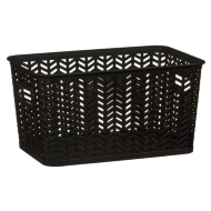 Medium Chevron Storage Basket - Black