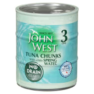 John West Tuna Chunks in Spring Water 3pk