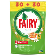 Fairy All in One Dishwasher Tablets 60pk
