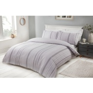 Marl Stripe Double Duvet Set